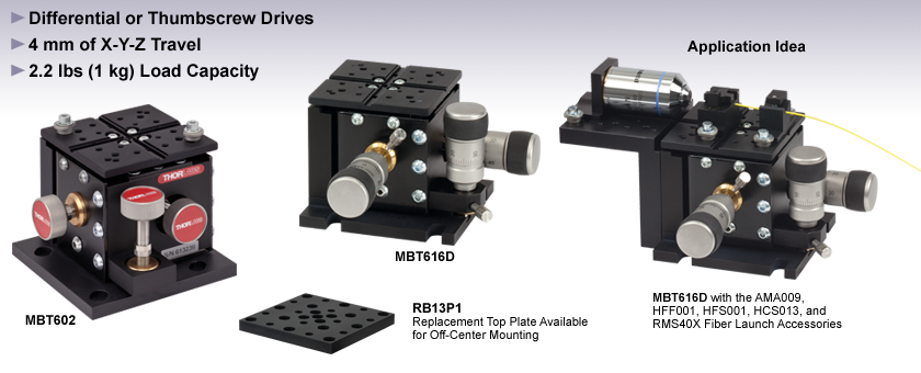 3-Axis Flexure Stages
