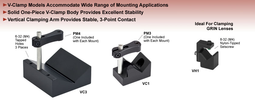 Post-Mountable V-Clamps