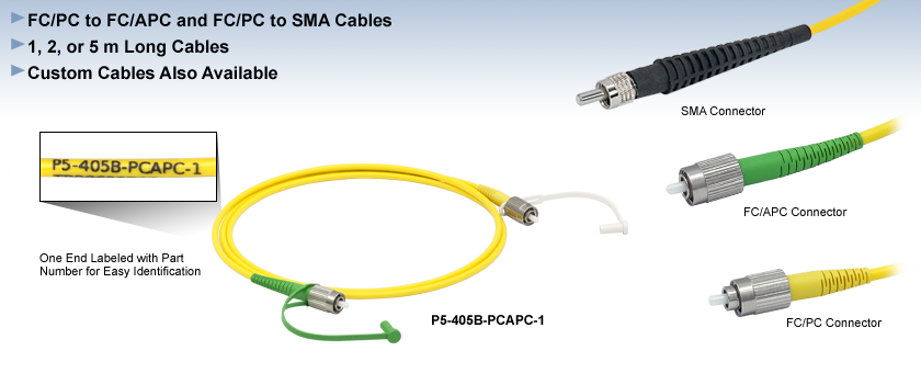 Single Mode Hybrid Fiber Optic Patch Cables
