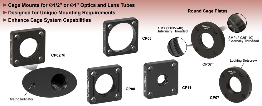 Cage Mounts for 30 mm Cage Systems