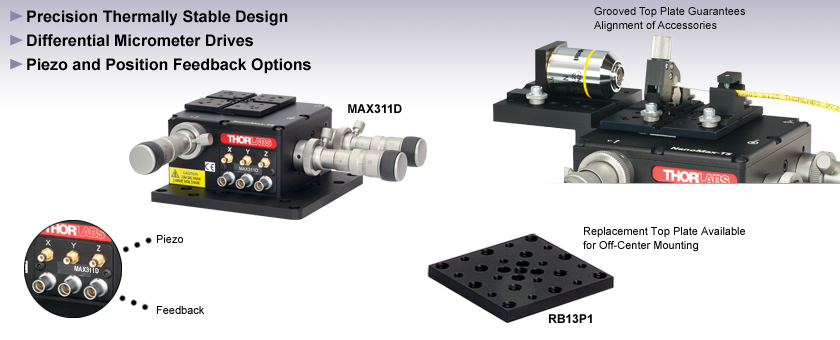 3-Axis NanoMax with Differential Adjusters
