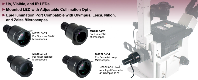 Collimated LED Light Sources for Microscopy