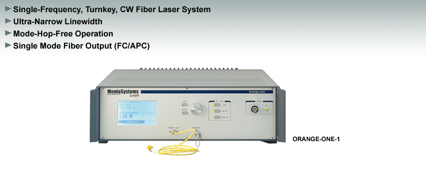CW Fiber Laser, Single-Frequency