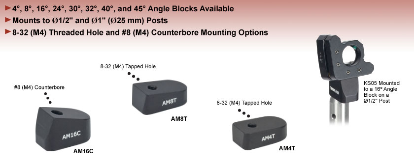 Post Mounting Angle Blocks
