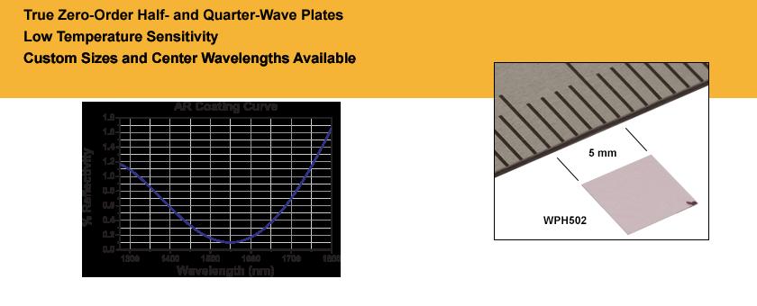 Telecom Zero-Order Wave Plates
