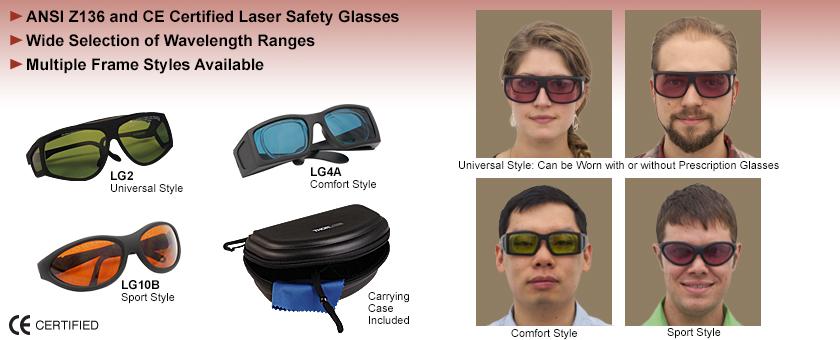 Certified Laser Safety Glasses