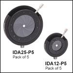 Standard, Post-Mountable Iris Diaphragms, Packs of 5<br>