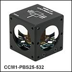 Cube-Mounted Laser-Line Polarizing Beamsplitters