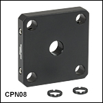30 mm Cage Plates for UnmountedOptics fromØ5 mm to Ø20 mm