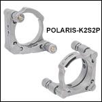 Ø2in Polaris<sup>®</sup> Kinematic Mirror Mount, 2 Piezoelectric Adjusters<br>