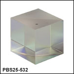 1in (25.4 mm) Laser Line Polarizing Beamsplitter Cubes
