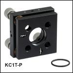 Ø1in Kinematic Mirror Mounts with Piezo Adjusters, ±275 µrad PiezoAdjustment