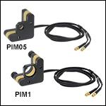 Ø1/2in and Ø1in Mirror Mounts with Piezoelectric Inertial Motor Adjusters