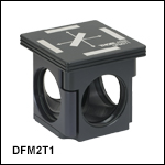 60 mm Cage-Compatible, Kinematic Fluorescence Filter Cube Insert andBase