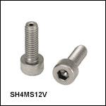 Vented, Vacuum-Compatible M4 x 0.7 Cap Screws