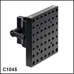 Ø1in (Ø25 mm) Post Mounting Clamp with 3.50in x 3.50in (87.5 mm x 87.5 mm) Mounting Plate