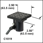 Adjustable-Height Platform for Ø1in (Ø25.0 mm) Posts