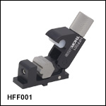 Flexure Stage Accessories: Quick-Release, Adjustable Fiber Clamp
