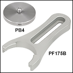 Base Adapters and Clamping Fork for Ø1in Post Holders and Ø1.5in Posts