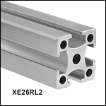 XE25 25 mm Construction Rail, Raw Extrusion