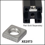 Low-Profile T-Nuts for 25 mm Rails