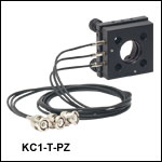 Ø1in (Ø25 mm) Kinematic Mirror Mounts with Piezo Adjusters