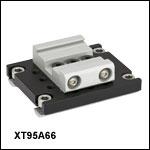 66 mm Rail to 95 mm Rail Fixed Adapter