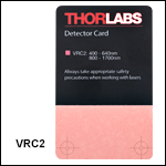 VIS/NIR Detector Card: 400 to 640 nm and 800 to 1700 nm