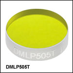 Longpass Dichroic Mirrors/Beamsplitters: 505 nm Cut-On Wavelength