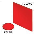 Unmounted 610 nm Longpass Colored Glass Filters