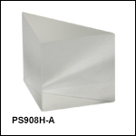 N-BK7 Right-Angle Prisms, AR-Coated Hypotenuse