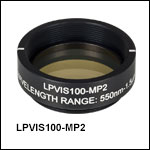 Mounted Ø25.0 mm Linear Polarizers, SM1-Threaded Housing
