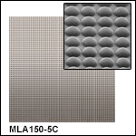 10 mm x 10 mm Unmounted Microlens Arrays