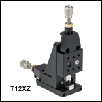 XZ Two-Axis Miniature Translation Stage, 1/2in Travel