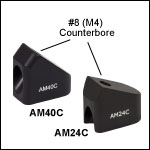 Counterbored Post Mounting Angle Blocks