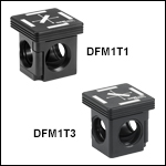 30 mm Cage-Compatible, Kinematic Fluorescence Filter Cube Inserts and Base