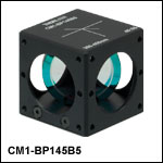 45:55 (R:T) Cube-Mounted Pellicle Beamsplitter, Coating: 300 - 400 nm
