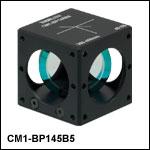 45:55 (R:T) Cube-Mounted Pellicle Beamsplitter, Coating: 300 - 400 nm