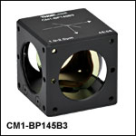 45:55 (R:T) Cube-Mounted Pellicle Beamsplitter, Coating: 1.0 - 2.0 µm