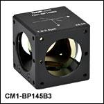 45:55 (R:T) Cube-Mounted Pellicle Beamsplitter, Coating: 1.0 - 2.0 µm