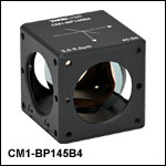 45:55 (R:T) Cube-Mounted Pellicle Beamsplitter, Coating: 3.0 - 5.0 µm