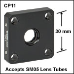 SM05-Threaded Cage Plate, Post Mountable