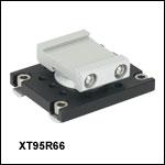 66 mm Rail to 95 mm Rail Rotation Adapter