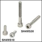 M4 x 0.7 Stainless Steel Cap Screws
