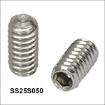 1/4in-20 Stainless Steel Single- and Double-Ended Setscrews