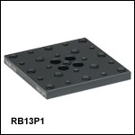 Flexure Stage Accessories: 1/4in-20 (M6) and 8-32 (M4) Tapped Top Plate