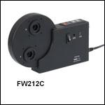 12-Position Motorized Filter Wheels for Ø1/2in (Ø12.5 mm) Optics