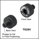 Spring-Loaded 1/4in-20 and M6 x 1.0 Thumbscrews for Post Holders