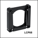 Filter Mount for 2in (50.8 mm) Square Optics, Cage Compatible