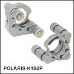 Ø1in Polaris<sup>®</sup> Kinematic Mirror Mount, 2 Piezoelectric Adjusters